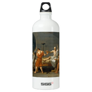 The Death of Socrates by Jacques-Louis David Water Bottle