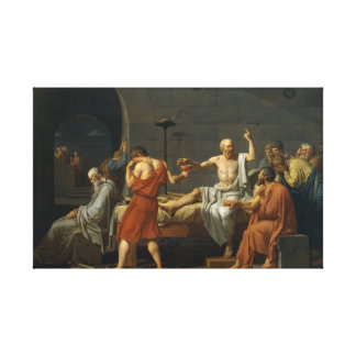 The Death Of Socrates Canvas Print