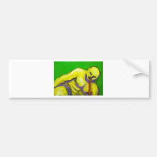 The Death of Socrates (expressionism portrait) Bumper Stickers