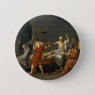 The Death of Socrates Pinback Button