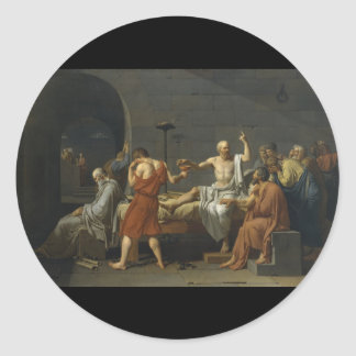 The Death of Socrates Round Stickers