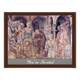 The Death Of St. Martin By Martini Simone 4.25x5.5 Paper Invitation Card