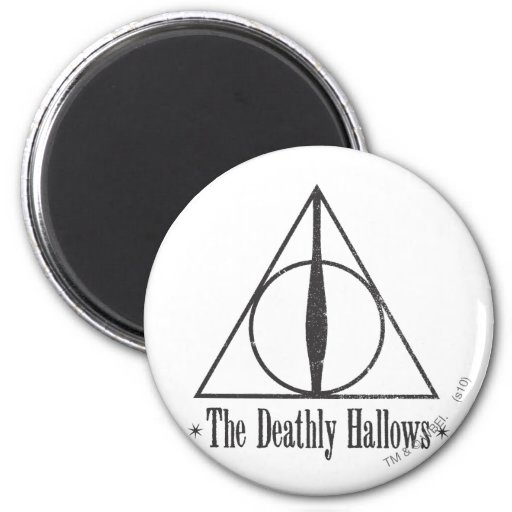 The Deathly Hallows 2 Inch Round Magnet