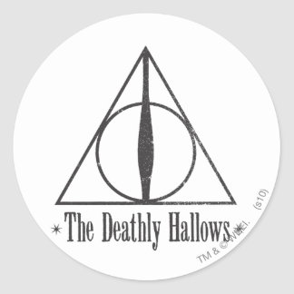 The Deathly Hallows Classic Round Sticker