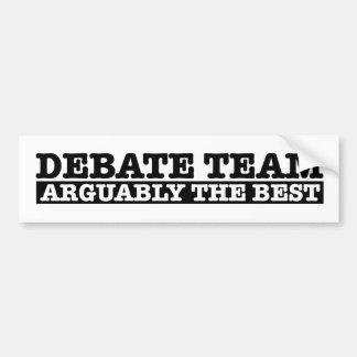 The Debate Team Bumper Sticker