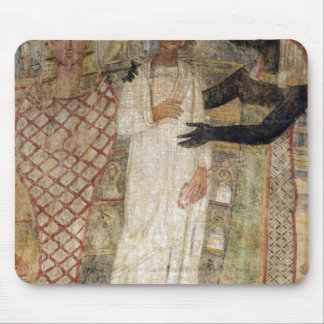 The deceased and his mummy protected by Anubis Mouse Pad