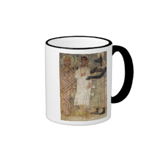 The deceased and his mummy protected by Anubis Ringer Mug