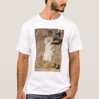 The deceased and his mummy protected by Anubis T-Shirt