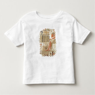 The deceased in front of a table of food toddler t-shirt