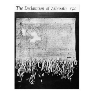 The Declaration of Arbroath, 6 April 1320 Postcard