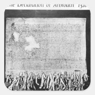 The Declaration of Arbroath, 6 April 1320 Square Sticker