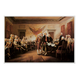 The Declaration of Independence 4 July 1776 Print
