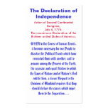 The Declaration of Independence Business Card