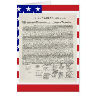 The Declaration Of Independence Card