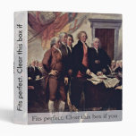 The Declaration Of Independence Detail By Trumbull Vinyl Binder