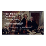 The Declaration Of Independence Detail By Trumbull Business Cards