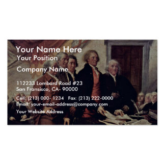 The Declaration Of Independence Detail By Trumbull Double-Sided Standard Business Cards (Pack Of 100)