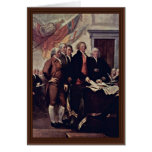 The Declaration Of Independence Detail By Trumbull Cards