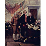 The Declaration Of Independence Detail By Trumbull Acrylic Cut Outs
