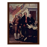 The Declaration Of Independence Detail By Trumbull Post Cards