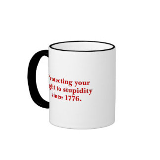 The Declaration of Independence is important Ringer Mug