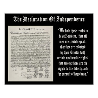 The Declaration Of Independence Posters