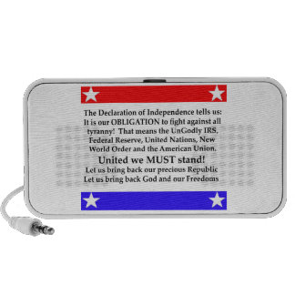 The Declaration of Independence States: It is our Portable Speakers