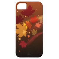The decorative natural autumn iPhon case design.