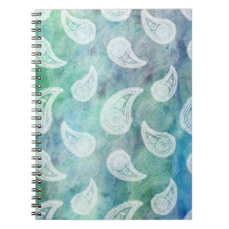 The Deep Blue Paisley Spiral Note Books