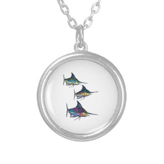 THE DEEP SCHOOL SILVER PLATED NECKLACE