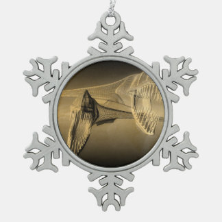 The Deep Snowflake Pewter Christmas Ornament