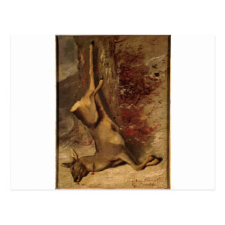 The Deer by Gustave Courbet Postcard