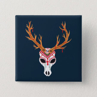 The Deer Head Skull Button