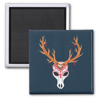 The Deer Head Skull Magnet