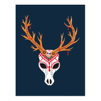 The Deer Head Skull Postcard