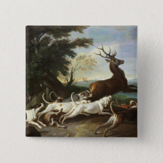 The Deer Hunt, 1718 Button