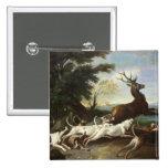 The Deer Hunt, 1718 Pinback Button
