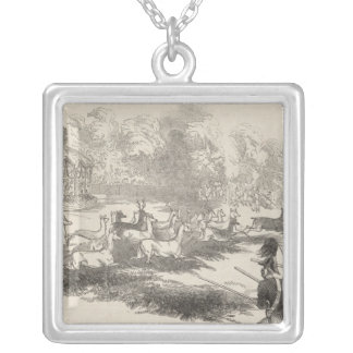 The Deer Shooting at Gotha Silver Plated Necklace