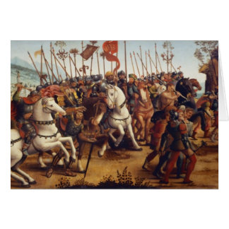 The Defeat of Athens by Minos, King of Crete, from Card