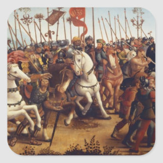The Defeat of Athens by Minos, King of Crete, from Square Sticker
