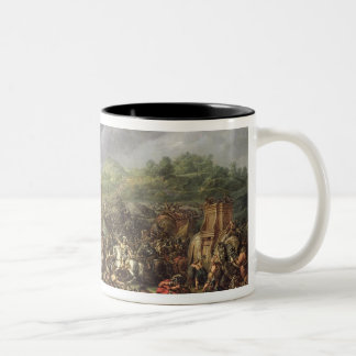 The Defeat of Porus by Alexander the Great Two-Tone Coffee Mug