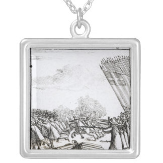 The Defeat of the Rebels at  Battle of Silver Plated Necklace