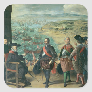 The Defence of Cadiz against the English, 1634 Square Sticker