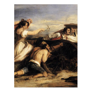 The Defence of Saragoça by David Wilkie Postcard