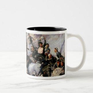 The Defence of the Eagle Aerie Two-Tone Coffee Mug