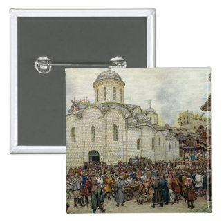 The Defence of the Town, 1918 2 Inch Square Button