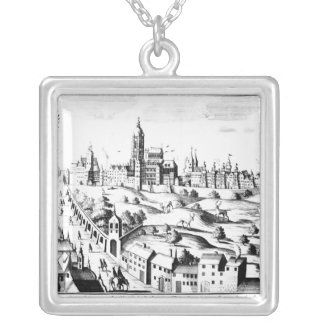 The Defenestration of Prague, 3rd August 1618 Square Pendant Necklace