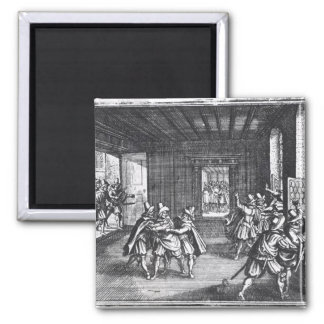 The Defenestration of Prague in 1618 2 Inch Square Magnet