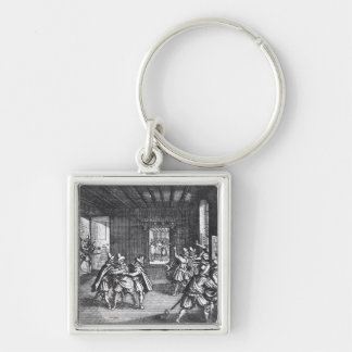 The Defenestration of Prague in 1618 Keychain