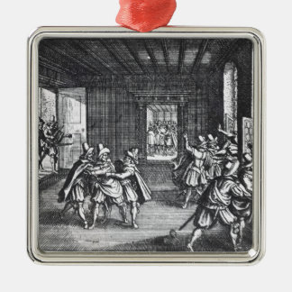 The Defenestration of Prague in 1618 Metal Ornament